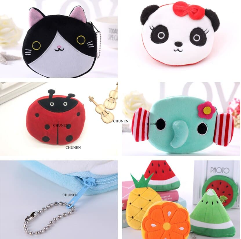 Women and Girls Cute Fashion Coin Purse Wallet Bag Change Pouch Key Holder Genuine Leather Squeeze Coin Purse Vegetable Corer Picture